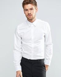 Строгая рубашка слим из египетского хлопка Selected Homme - Белый