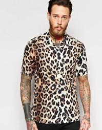 Рубашка классического кроя с отложным воротником и леопардовым принтом Asos