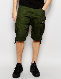 Свободные шорты карго зеленого цвета G-Star Rovic