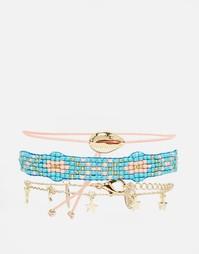 Набор браслетов с ракушкой, звездочками и бисером Orelia - Мульти
