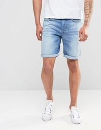 Светлые джинсовые шорты Selected Homme - Светло-голубой