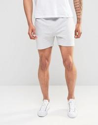 Трикотажные короткие шорты Only & Sons - Светло-серый меланж