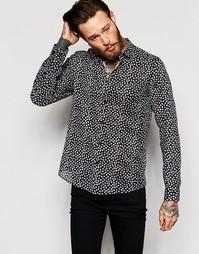 Прозрачная рубашка классического кроя с принтом в виде листиков ASOS