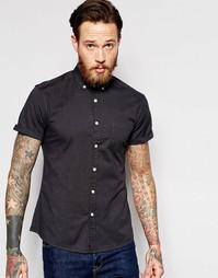 Темно-серая оксфордская рубашка с короткими рукавами ASOS - Угольный