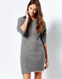 Платье-джемпер Ichi - Серовато-стальной