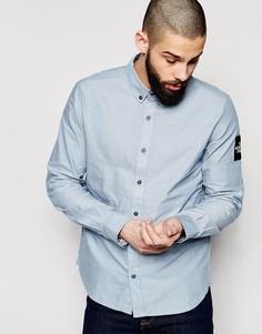 Оксфордская рубашка слим с нашивкой на рукаве The North Face - Синий