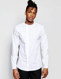 Рубашка зауженного кроя с воротником на пуговицах и скрытой планкой Ro Rogues of London