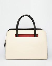 Большая структурированная сумка Fiorelli - Ванильный/красный