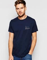Темно-синяя футболка классического кроя с принтом логотипа Jack Wills