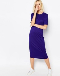 Платье-футболка Weekday - Насыщенный синий