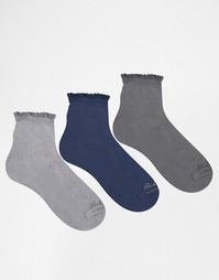 Набор из 3 пар серых носков Ruby Rocks - Серый