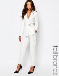 Белые строгие брюки Y.A.S Tall - Белый