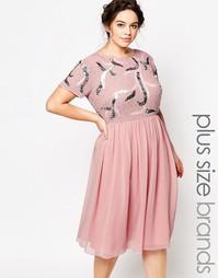 Приталенное платье для выпускного Lovedrobe - Розовый