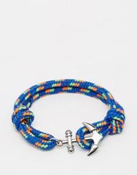 Веревочный браслет с якорем Jack & Jones - Синий