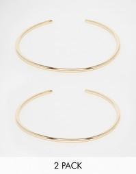 Набор из 2 браслетов на верхнюю часть руки ASOS - Золотой
