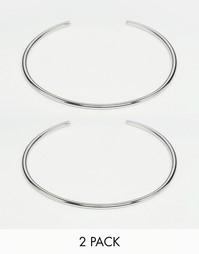 Набор из 2 браслетов на верхнюю часть руки ASOS - Серебряный