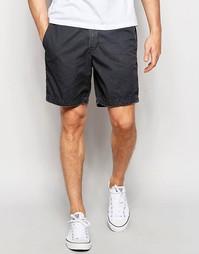 Черные выбеленные шорты слим в стиле преппи Abercrombie & Fitch