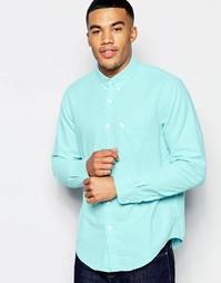 Зеленая оксфордская рубашка слим Abercrombie & Fitch - 300 зеленый