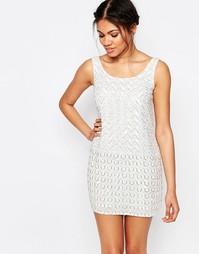 Цельнокройное платье без рукавов с вышивкой Glamorous