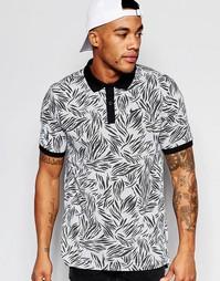Черная футболка‑поло с принтом Nike 810186-010 - Черный