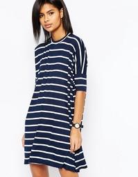 Платье-футболка в полоску ASOS