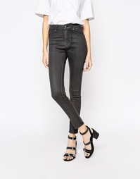 Вощеные джинсы скинни Cheap Monday - Угольный