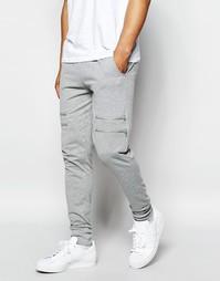 Спортивные штаны с молниями Systvm - Серый