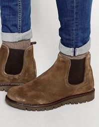 Массивные замшевые ботинки челси Walk London - Коричневый