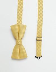 Фактурный галстук‑бабочка Noose & Monkey - Желтый