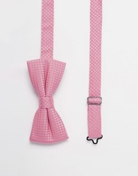 Фактурный галстук‑бабочка Noose & Monkey - Розовый