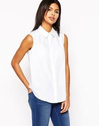 Белая рубашка без рукавов ASOS - Белый
