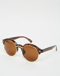 Коричневые солнцезащитные очки в черепаховой оправе 7X - Коричневый