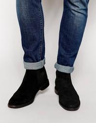Замшевые ботинки ASOS Chelsea - Черный