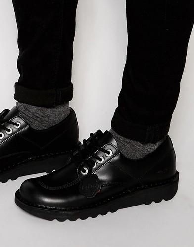 Низкие туфли Kickers Kick - Черный