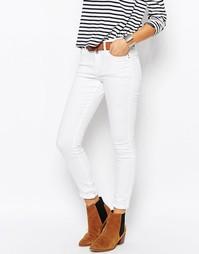 Облегающие джинсы с завышенной талией Esprit - Белый