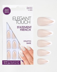 Накладные ногти с французским маникюром Elegant Touch - Stiletto Bare