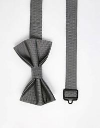 Фактурный серый галстук-бабочка ASOS - Серый