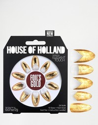 Накладные ногти House Of Holland By Elegant Touch - Foils Gold