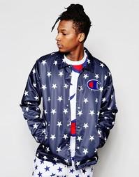 Спортивная куртка с принтом звезд Champion - Темно-синий