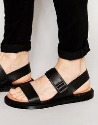 Кожаные сандалии с пряжкой Dr Martens Kennet - Черный