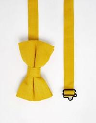 Фактурный желтый галстук-бабочка ASOS - Желтый
