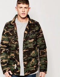 Куртка с камуфляжным принтом в стиле милитари на подкладке Bellfield