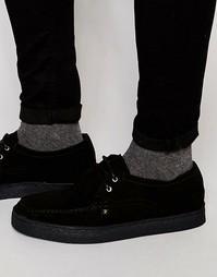 Замшевые туфли-криперы Farah Form Lo - Черный