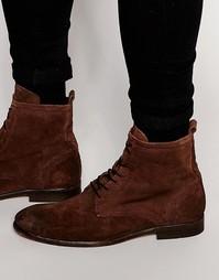 Замшевые ботинки на шнуровке Hudson Swathmore - Коричневый