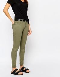 Классические джинсы скинни с пятью карманами J.D.Y - Оливковый JDY