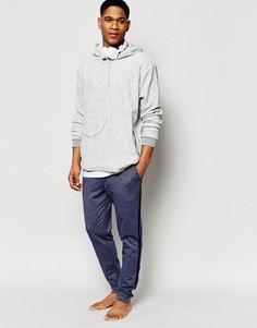 Темно-синие меланжевые джоггеры скинни в крапинку в стиле casual ASOS