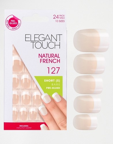 Короткие накладные ногти Elegant Touch - Французский маникюр 102