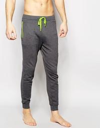Штаны для бега слим с манжетами Calvin Klein Iron Strength - Серый