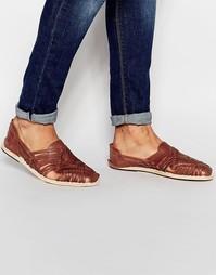 Плетеные кожаные сандалии Hudson Matto - Рыжий