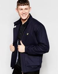 Куртка Харрингтон с подкладкой в клеточку Lyle & Scott - Темно-синий